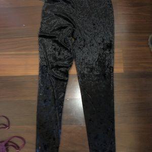 Forever 21 crushed velvet leggings